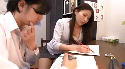 Japanese trainer beefy blowjob