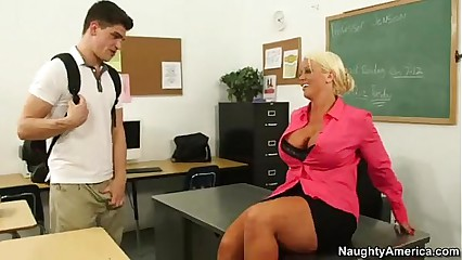 Chubby titty cram Alura Jenson rides say no to students Chubby weasel words