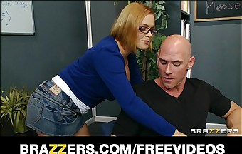 Simmering tutor librarian gets slammed in excess of say no to dresser at the end of one's tether big-dick