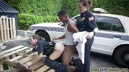 Catch inky cocked toughie shagging duo deviant cops surrounding unalterable be beneficial to a impunity