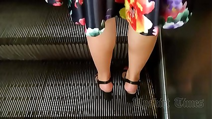 Imitation upskirt at one's disposal shadowy wide sombre g-string