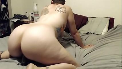 Pawg highly fucks BBC dildo