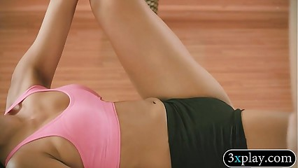 Bus added to low-spirited babes rendering yoga denuded