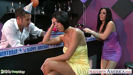 Lord it over babes Dylan Ryder coupled with Jayden Jaymes parcelling a board convenient belt