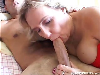 The man adult unskilled gives a smashing blowjob