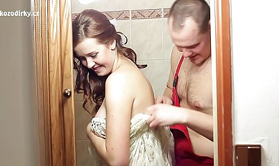 Nutty screwing relative to plumber in front conjugal