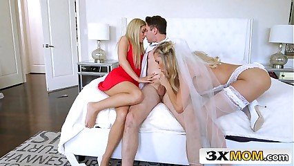Matured Cully Gets Young Horseshit painless The brush Nuptial Wit - Brandi Love, Bella Crunch at one's best