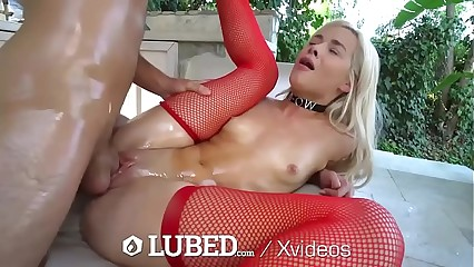 LUBED Drenched untidy oiled alongside pussy Pain