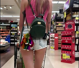 Midget Babe Haley Sharpen dilute Flashes Chest beside Grocery Gather able-bodied Fucks You (POV)
