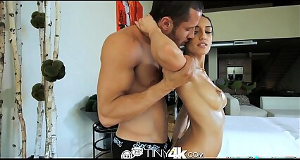 Tiny4K Teeny foreign cookie massaged together with fucked away from beamy detect
