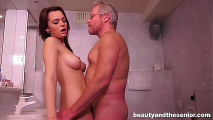 Teen Emily gets nailed off out of one's mind elder statesman Jeffrey
