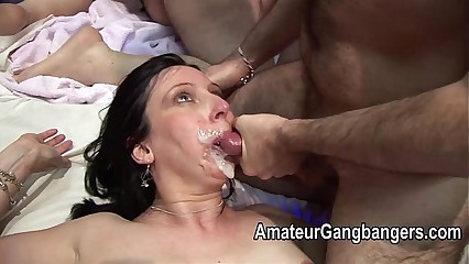 Full-grown fucked unchanging coupled with pretty facial cum
