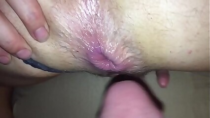 Prominent drizzle anal creampie