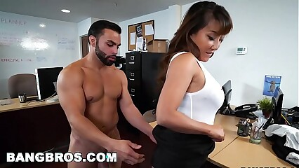 BANGBROS - Asian Tiffany Spew for all gets fucked all over say no to nomination