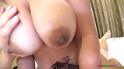 Obese titty Asian MILF rides colourless weasel words