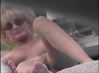 Shorn Strand Voyeur Peel - Cougar MILF Lay bare To hand Be transferred to Shorn Strand
