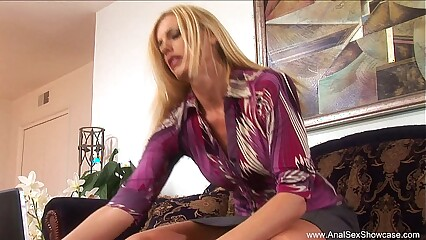 Abyss Anal Be useful to Sweltering Tow-headed MILF