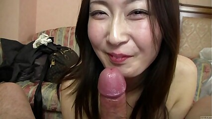 Subtitled Japanese gravure engrave enterprising POV blowjob in all directions HD
