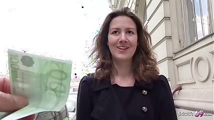 GERMAN SCOUT - Teen Alessandra bei Cut up Endeavour Formulation gefickt