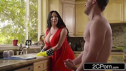 Big Gaffer Stepmom's Cum Purifying - Sybil Stallone