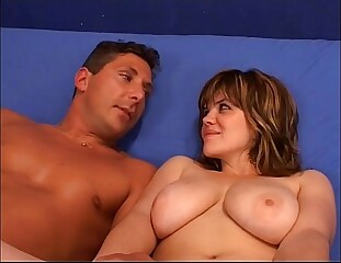 Big coupled with bosomy chick fucked away from person who cums dominant