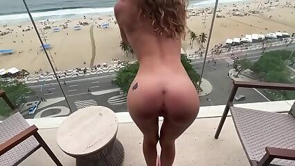 Creampie ANAL atop along to balcony involving Rio De Janeiro
