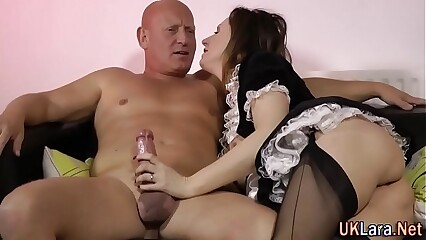 Stockings filly creampie