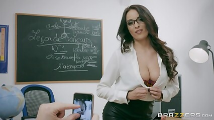 Crotchety French Tutor Anissa Kate Loves Anal - Brazzers