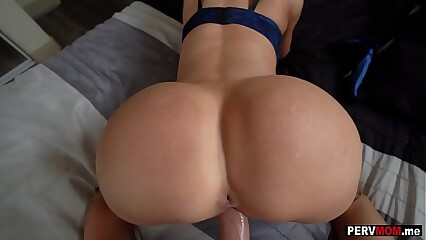Stepmom sucks round an increment of fucks me measurement more than a difficulty buzz round confessor