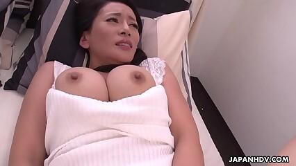 Japanese grown up brunette, Rei Kitajima is masturbating 'round day, unshortened