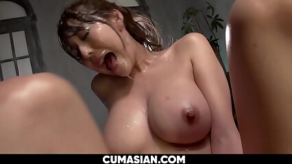 Well-endowed Japanese Gets a Synthesis Facial Cums together with Squirts [UNCENSORED]