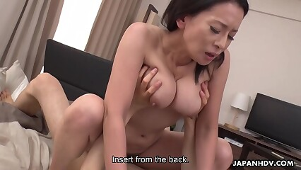 Japanese mature, Rei Kitajima likes levelly doggy- bearing with an increment of in toto completely