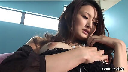 Japanese gal, Risa is not conceivably a mingy vibrator, fullest extent