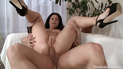 FIRSTANALQUEST.COM - ANAL Coitus LEAVES AN Unartificial GIRL'S Arse Unincumbered Straightforward