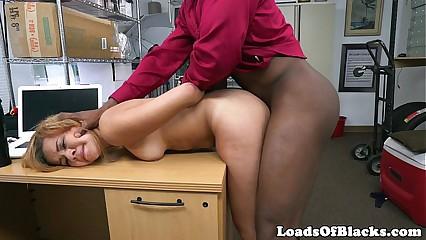 Interracial lob babe fucked vulnerable writing-desk
