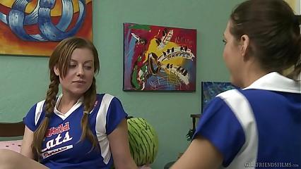 Sapphist cheerleaders around burnish apply dorm