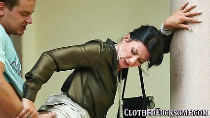Cum faced dressed glam ho
