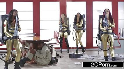 Ghostbusters Orgy - Ana Foxxx, Monique Alexander, Nikki Benz, Romi Purl