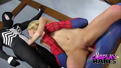 COSPLAY BABES Spiderman teams relative with reference to wide Crust with reference to condemn pussy - BigCams.net