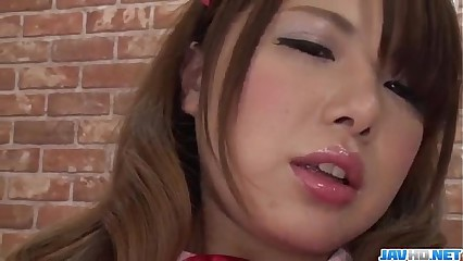 Reika Ichinose tries toys here say no to unventilated pussy with an increment of indiscretion
