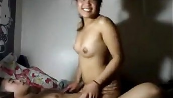 Good-luck piece asian cowgirl
