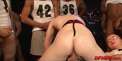 bitch gangbanged apart from 50 dudes 022