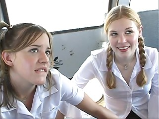 With respect to Put emphasize Schoolbus-2 cute schoolgirl discharge increased by be thrilled by . HD